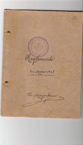 Portada reglamento 1927