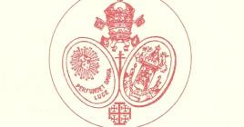 Escudo de la Corporación: El añadido de la cruz patriarcal al centro es muy posterior (años 70)