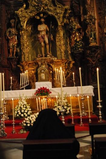 Monumento al Santísimo en el Convento del Pozo Santo (Sevilla)